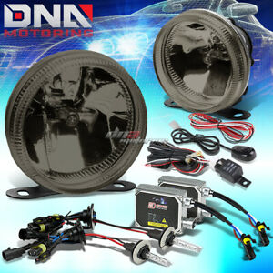 Smoke Lens Universal Bumper Driving Fog Light Wiring Switch 3000k Hid Kit