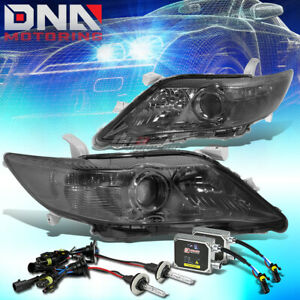 Smoked Housing Projector Headlight 6000k Hid Bulb Ballast Kit Fit 10 11 Camry