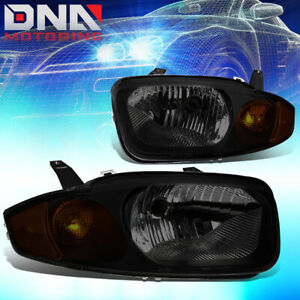 For 03 05 Chevy Cavalier I4 Smoked Housing Amber Signal Headlight Replacement