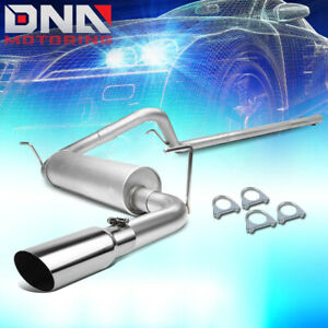 For 2007 2011 Jeep Wrangler Unlimited 2 5 Muffler Catback Exhaust Angle Cut Tip