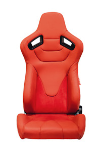 Cipher Auto Ar 9 Revo Red Leatherette W microsuede Euro Racing Seats Pair New