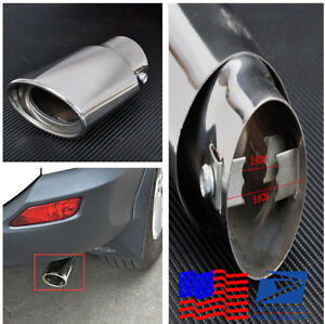 5 7 Glossy Chrome Car Exhaust End Tail Pipe Tailpipe Tip Muffler For 1 8 2 2 T