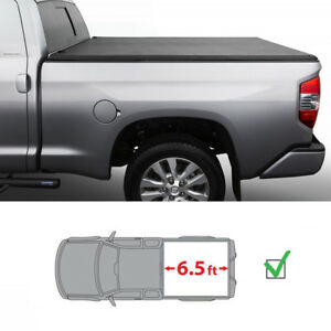 6 5ft Bed Assemble Lock Tri Fold Tonneau Cover For 2007 2013 Silverado Sierra