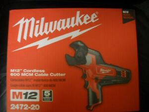 Milwaukee 2472 20 M12 600 Mcm Cordless Cable Cutter New