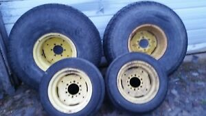 16 1 John Deere Rims Tractor Wheels 4x4 All Wheel Drive Turf Tires 6 Lug Hole