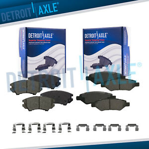 Front Rear Ceramic Brake Pads For 2010 2011 2012 2013 2014 2015 Chevy Camaro