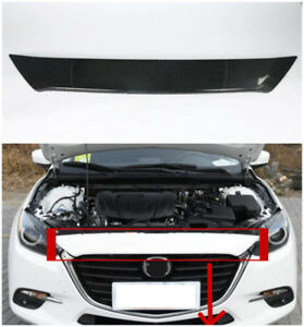 Carbon Fiber Front Middle Upper Grille Grill Cover For Mazda 3 Axela 2017 2018 X