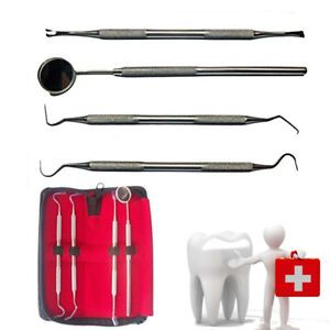 5 Set Of Stainless Steel Dentist Hygiene Cleaning Tooth Dental Pick 4pcs set