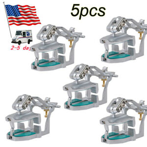 5pcs Dental Lab Adjustable Magnetic Articulator Mount Full Teeth Model usa Sale