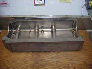 New Stainless Sb2 2 Chevy Dry Sump Oil Pan W Billet End Caps Nascar Bowtie Block