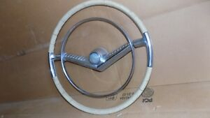 1955 Mercury Deluxe Accessory Steering Wheel Horn Ring Sun Valley Early Take Off
