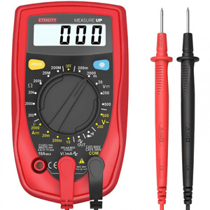 Multimeter Digital Meter Amp Volt Ohm Meter Diode And Continuity Tester Lcd Back