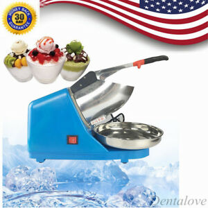New Electric Ice Crusher Shaver Machine Snow Cone Maker Shaved Ice 65kg H