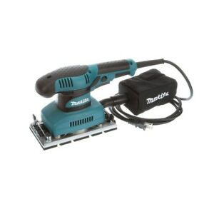 Makita Finishing Sander Corded 1.7 Amp 13 Dust Collection Sheet Through-Pad