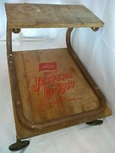 Vintage Lisle Jeepers Lo boy Automotive Creeper Model w roller Seat Creeper