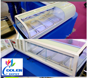New 48 Sushi Bar Sashimi Seafood Cooler Case Refrigerator Commercial Model Su48