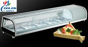 New 72 Sushi Bar Sashimi Seafood Cooler Case Refrigerator Commercial Model Su72