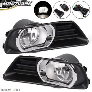 For Toyota 2007 2009 Camry Clear Lens Fog Driving Lights Kit Switch Kit