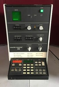 Coulter Counter Model Zm Control Particle Count Medical Equipment Use