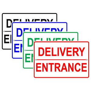 Delivery Entrance Checking Line Security Safety Novelty Aluminum Metal Sign