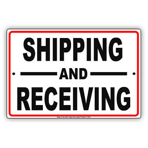 Shipping And Receiving Aluminum Novelty Metal Sign Loading Dock Forklift
