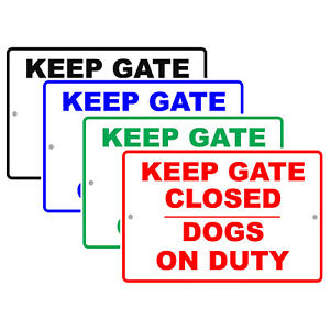 Keep Gate Closed Dogs On Duty Aluminum Novelty Metal Sign No Trespassing