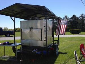 Trailer With Ole Hickory Smoker El ib