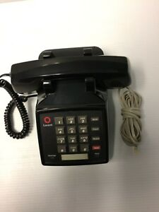 Lucent 2500ymgm 003 Vintage Black Push Button Desk Phone