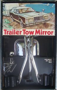 Vintage Fender Mount Towing Mirror Removable Trail View No Drilling 8 X5 Nib