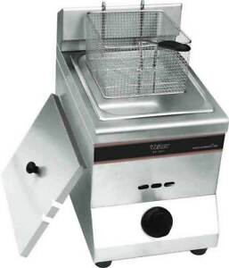New Commercial 1tank 1basket Stainless Steel Gas Deep Fryer Machine