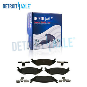 Rear Ceramic Brake Pads W Hardware For 2007 2014 2015 2016 2017 Dodge Ram 1500