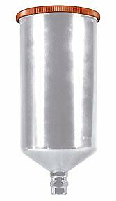 Astro Pneumatic Aluminum Gravity Feed Cup With Screw on Lid 1 Liter Capacity