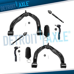 Front Upper Control Arms Ball Joints Tie Rods Boot For Nissan Armada Titan Qx56