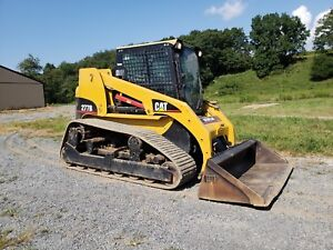 2004 Caterpillar 277b Compact Rubber Tracked Skid Loader W Cat Gp Bucket Cabbed