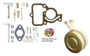 Complete Carburetor Rebuild Kit Float Ih Farmall Cub Lo Boy 154 Tractor Carb