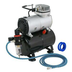 Airbrush Air Compressor Pump Kit Multipurpose Hobby Paint Cake Tattoo 1 5 Hp