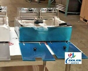 New 2 5 Gallon Electric Double Deep Fryer Model Fy2 Counter Top Commercial Grade