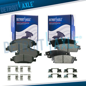 Front Rear Ceramic Brake Pads For Avalanche Silverado Suburban Sierra 1500