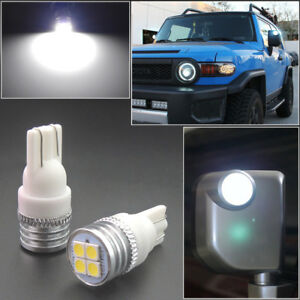 2 Bright Hid White Led Side Mirror Light Bulbs Fit For 2007 14 Toyota Fj Cruiser