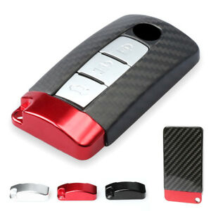 Auto Remote Key Cover Case Protective Carbon Fiber For Nissan Infiniti Gtr 1pc