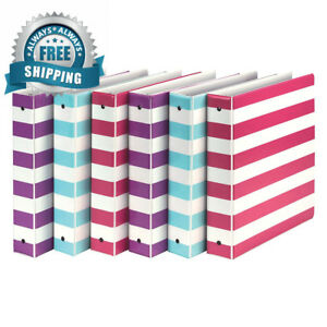 Samsill Mp20121 Fashion Design 3 Ring Binder Stripes 1 5 Inch Round Rings