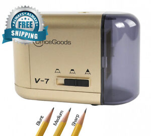 Electric Battery Operated Pencil Sharpener Compact Reliable Fast Quiet