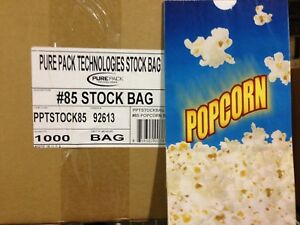 Movie Theater Popcorn Bags 85 case Of 1000 Butter Stock Bags Oil Resistant