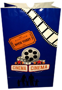 Movie Theater Popcorn Bags 130 case Of 500 Butter Stock Bags Oil Resistant