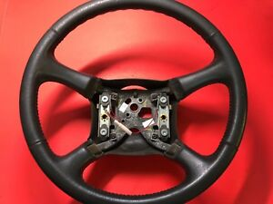 1998 2002 Gm Chevy Silverado Suburban Tahoe Steering Wheel Leather Used Oem