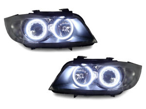 Depo Factory Seal Led Angel Halo Headlight Clear Corner For 09 11 Bmw E90 e91