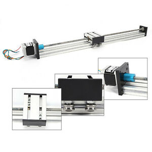 300mm Cnc Linear Sliding Block Rail Guide 12v W Stepping Motor Aluminum Alloy