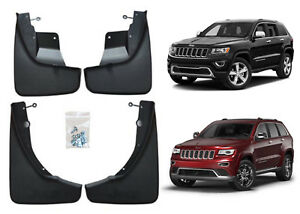 Fits 2011 2018 Jeep Grand Cherokee Front Rear Molded Splash Guards Mud Flaps