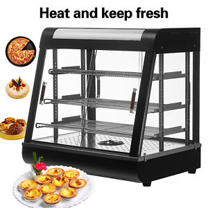Commerical Glass Food Court Restaurant Heat Food Pizza Display Warmer Cabinet