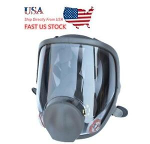 Us Full Face Gas Mask Large Size Dust Facepiece Respirator Painting Spraying